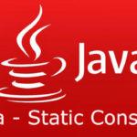 Java – Static Constructer