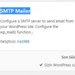 SMTP Mailer Eklentisi Kullanımı