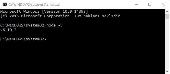 nodejs windows kurulum - Node.js Kurulumu