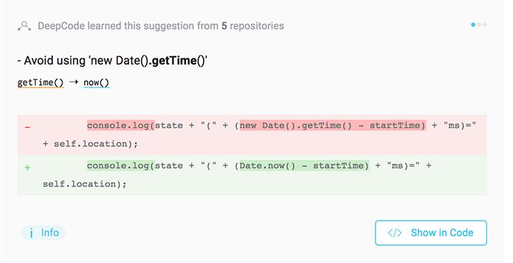 deepcode duzeltme - Yapay Zeka Kullanarak Kodlardaki Hataları Bulan Yazılım: DeepCode